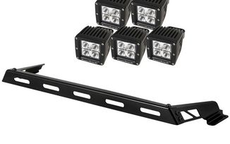 Hood Light Bar Kit, 5 Cube LED Lights, JK (11232.05 / JM-02185 / Rugged Ridge)
