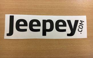Jeepey Small Black Sticker (Sticker-B-S)