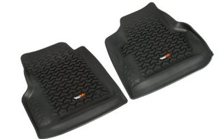 Floor Liners, Front, Pair, Black, TJ (12920.11 / JM-02340 / Rugged Ridge)