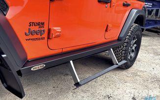 Rock Slider Auto Deployable Step, JL 4 door (BD-SS-200-JL4 / JM-04681 / Rock Slide Engineering)