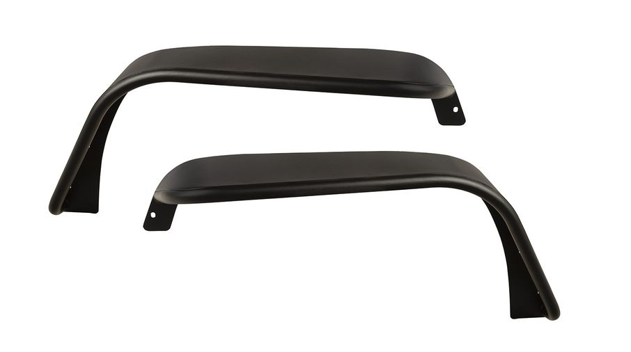 Steel Tube Fender Flares; Front, JK (11615.46 / JM-04674 / Rugged Ridge)