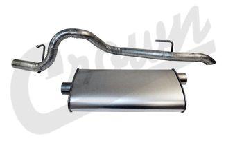 Muffler & Tailpipe, 97-01 XJ (52101052AE / JM-04263 / Crown Automotive)