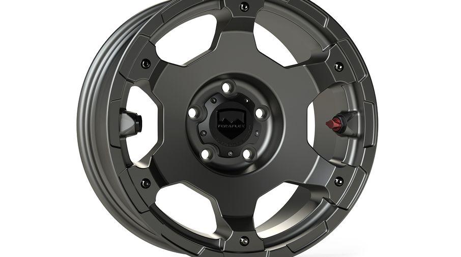 Nomad Wheel (BASE), 17X8.5 (ET0), Titanium JK / JL (1056150 / JM-04995 / TeraFlex)