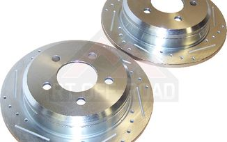Brake Rotor Set (Rear; Drilled & Slotted) (52008184DS / JM-02485 / RT Off-Road)
