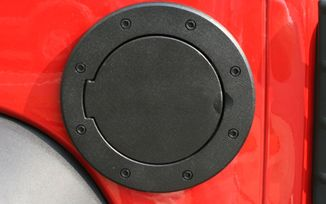 Fuel Cap Door, Black; Non-Locking (11425.05 / JM-03137 / Rugged Ridge)