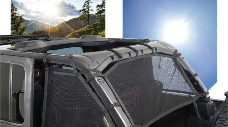 Cloak Mesh Sides and Rear, JL 4 Door (S/B97501 / JM-05849 / Smittybilt)
