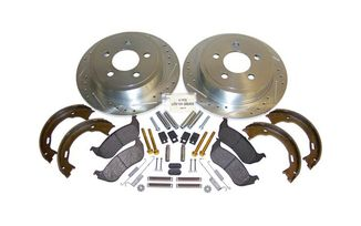 Performance Brake Kit (Rear; Drilled & Slotted) TJ & KJ (52128411DSK / JM-01330 / RT Off-Road)