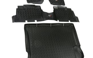 Floor Liner Kit, Black, JK 4 Door (12988.04 / JM-03279 / Rugged Ridge)