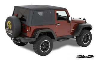 Supertop Soft Top, Black, JK 2 Door (54716-35 / JM-01108 / Bestop)