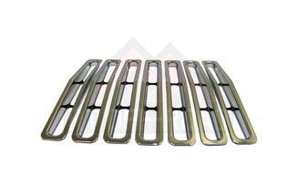 Grille Inserts, Chrome (Wrangler YJ) (RT26030 / JM-01492 / RT Off-Road)