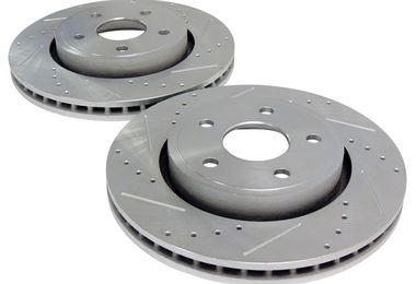 Brake Rotor Set (Front, Drilled & Slotted) WK & XK (52089269DS / JM-01344 / Crown Automotive)