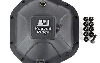 Boulder Aluminum Differential Cover, Dana 44, Blk (16595.12 / JM-03132 / Rugged Ridge)