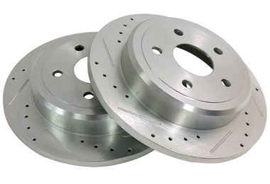 Brake Rotor Set (Rear, Drilled & Slotted) WK & XK (52089275DS / JM-01345 / Crown Automotive)